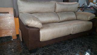 sofa de 3 plazas. 197cm de ancho