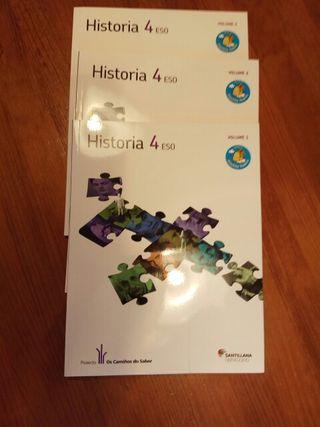 Historia 4° ESO lote 3 libros