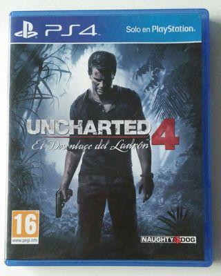 Unchartes 4 El Desenlace del Ladron PS4