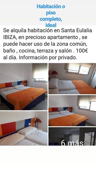 Alquilo habitaciones o atico completo en Ibiza,