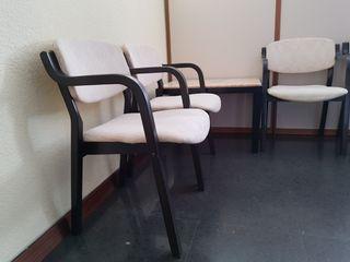 Mobiliario oficina 10 sólidas sillas sala espera