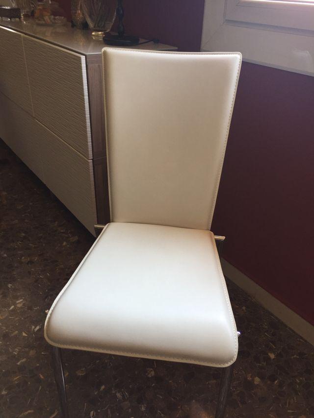 6 sillas comedor blancas de segunda mano por 110 € en Martorell en ...