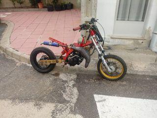 vendo pit bike con motor 50cc