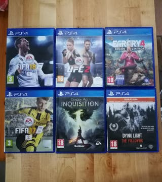 pack juegos ps4 Fifa UFC Farcry