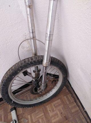 suspesion para moto de trial rueda incluida