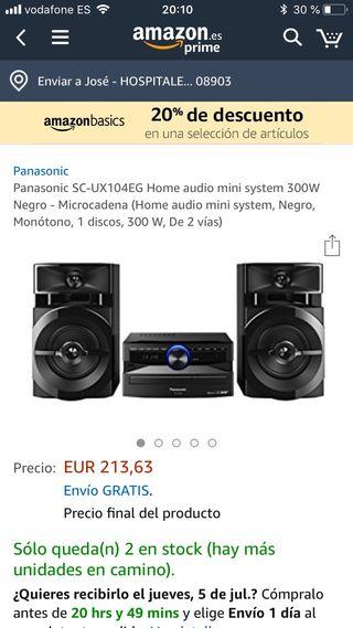 Altavoces Panasonic 300W