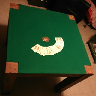 Mesa de madera maciza reversible