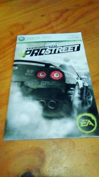 """Manual """"Need For Speed Pro Street"""" - XBox 360 -"""
