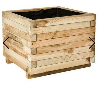 macetas de madera grandes