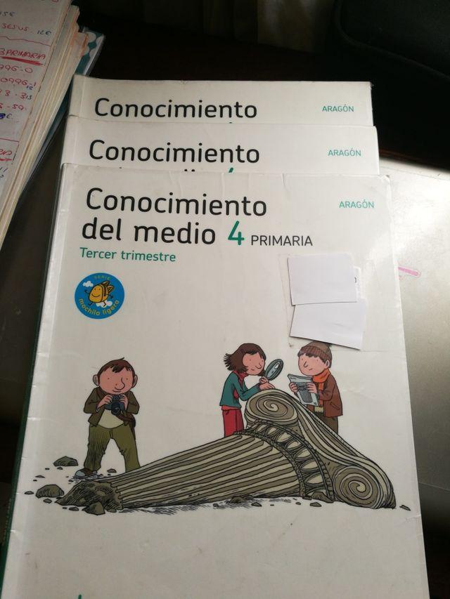 Lote libros conocimiento del medio 4 de primaria de segunda mano por ...