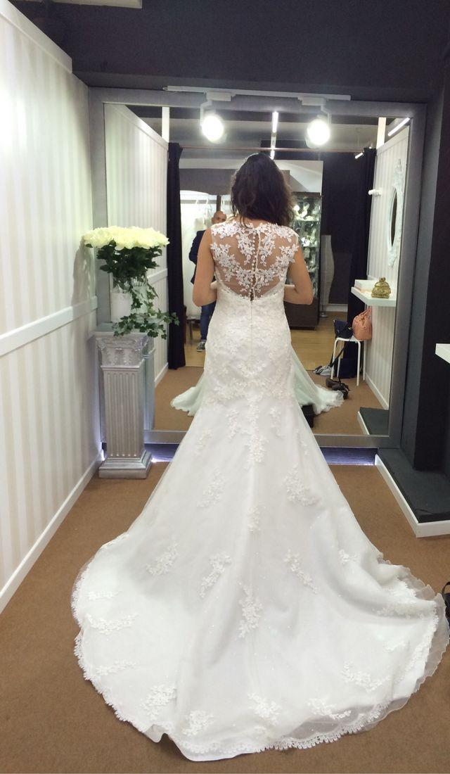 vestido de novia corte sirena de segunda mano por 440 € en barcelona