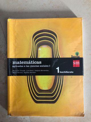 Libro 1º Bachiller, Matemáticas aplicadas a las ci