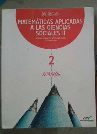 libro matemáticas aplicadas 2 bachillerato anaya