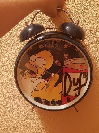 reloj despertador grande homer simpson