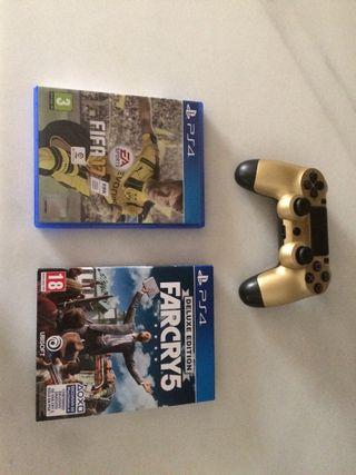 Pack juegos mas mando ps4