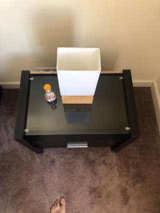 Bedside tables (4 available) - black - new!