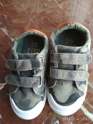 Zapatillas lona número 25