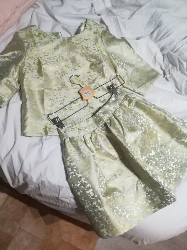 2d9c2044751e Vestido coctel boda dorado de segunda mano por 35 € en Sabadell en ...