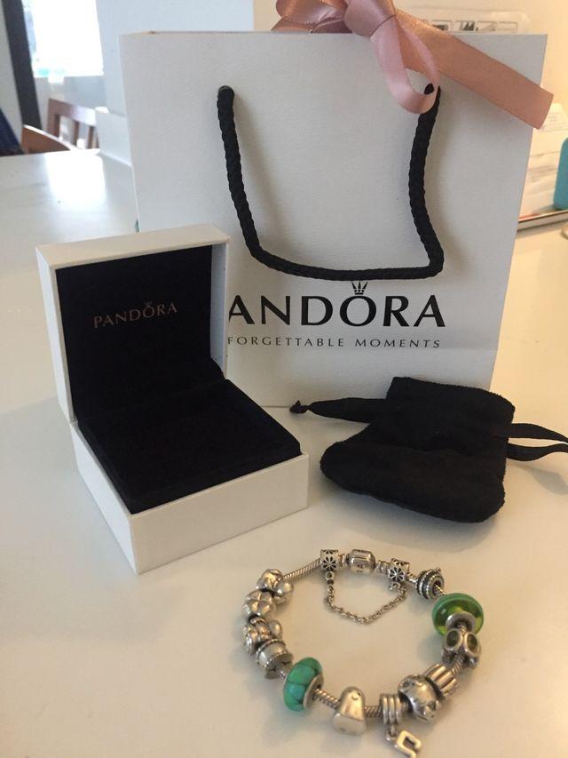 Pulsera Pandora  13 Charms Originales Pandora  De Segunda