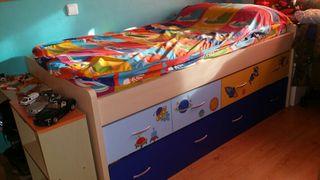 ¡¡URGE!!cama compacta juvenil + somier + colchon