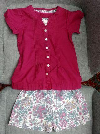 pijama niña Zubiri talla 4 color vino