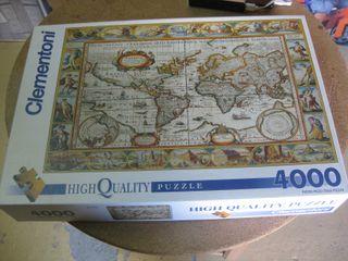 Puzzle mapa mundo antiguo Clementoni 4.000 piezas.