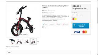 Bicicleta Electrica Plegable (40km/h) A estrenar