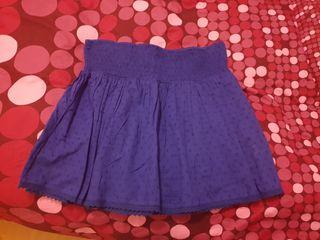 Falda verano azul