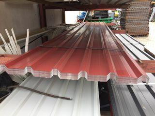 Chapas rojas de tejado de 6m nuevas a 27€ la unidad