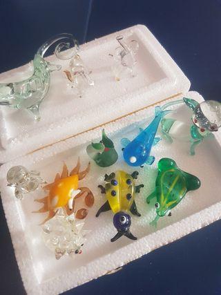 11 animales de cristal
