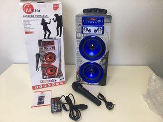 Altavoz portatil karaoke