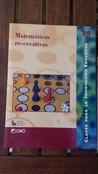libro Matemáticas recreativas. Ed. Graó