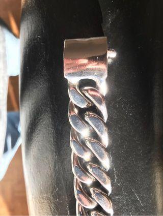 Pulsera plata maciza