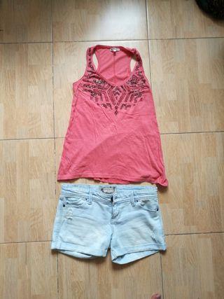 conjunto camiseta y pantalón