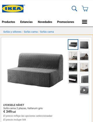 Sofá cama de Ikea LYCKSELE HAVET
