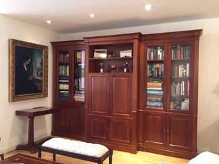 Libreria, vitrina y Tv