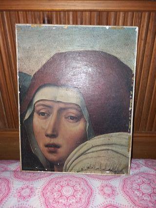 antigua lámina,cuadro religioso