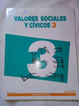 libro Valores Cívicos y Sociales