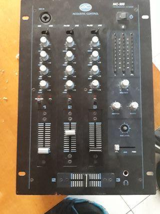 mesa de mezclas acoustic control