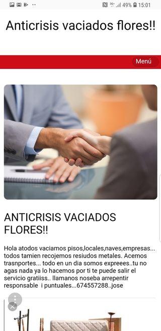 ANTICRISIS VACIADOS !!