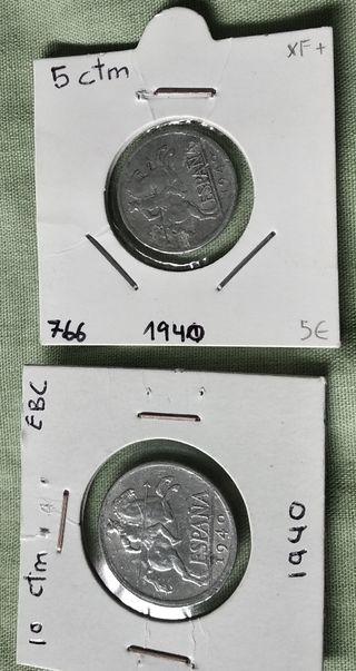 monedas centimos 1940 + regalo