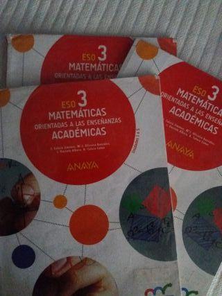 libro matemáticas 3 eso