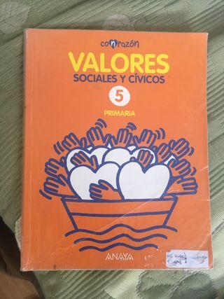 Libro valores 5 de primaria