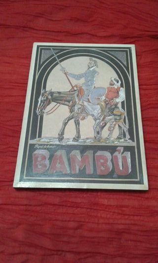 cuadro publicidad PAPEL DE FUMAR -BAMBU-retro