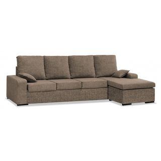 Sofas chaise longue color marron 4 plazas ref-53
