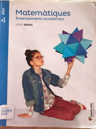 Libro Matemàtiques 4 ESO