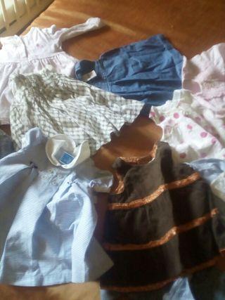 12 Vestidos niña 3 a 9 meses todos 10€ verano