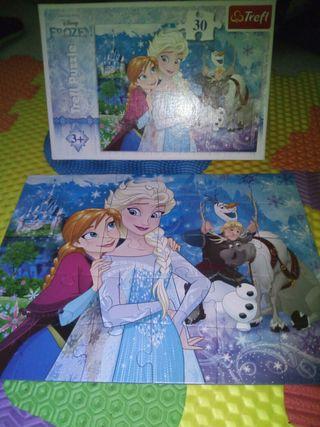 Lote 3 puzles de Frozen