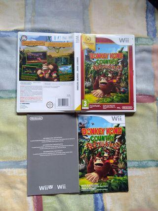Donkey Kong Wii, solo caja e instrucciones