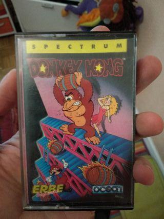 Donkey Kong, videojuego Zx Spectrum en cassette